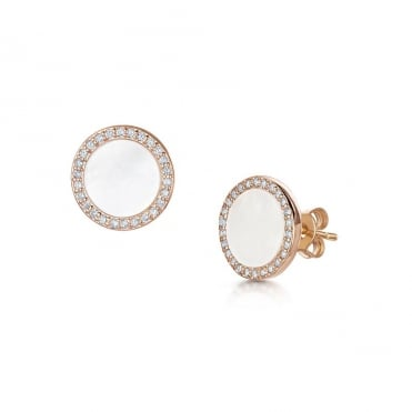 Darcy Rose Gold & White Earrings