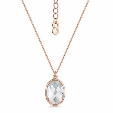 Kathryn Rose Gold Pendant Necklace