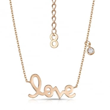 Love Story Rose Gold Pendant Necklace