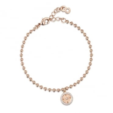 Love X Infinity Rose Gold Compass Bracelet