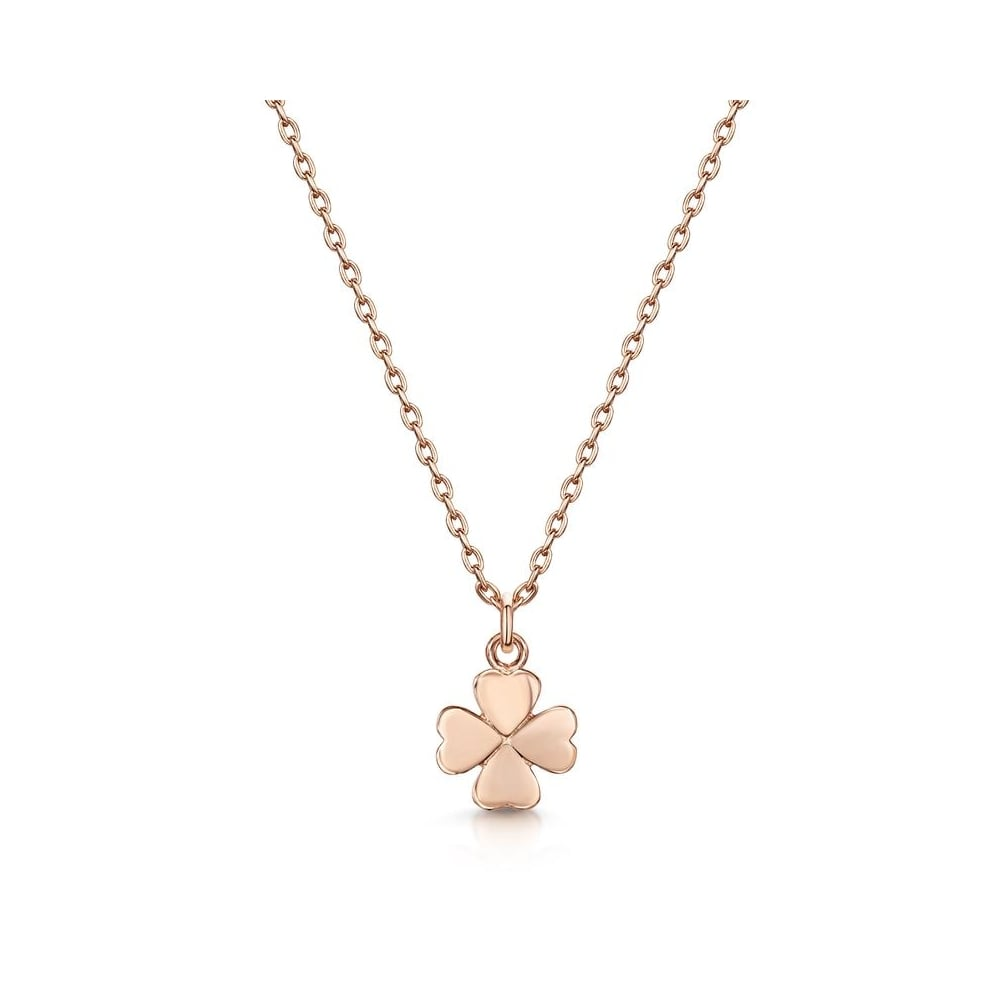 Infinity co love x infinity rose gold four leaf clover pendant love x infinity rose gold four leaf clover pendant necklace aloadofball Image collections