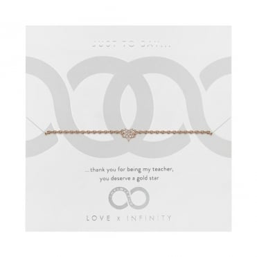 Love X Infinity Rose Gold Pave Star Bracelet