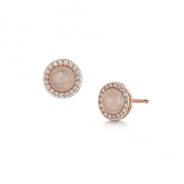 Rosanna Rose Gold & Rose Quartz Stud Earrings