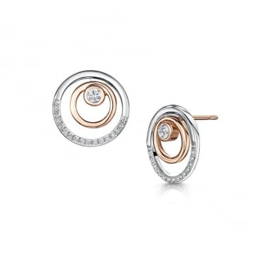 Victoria Rhodium & Rose Gold Earrings