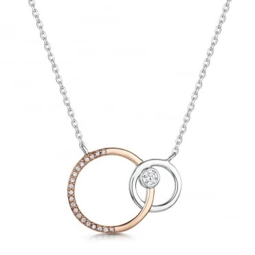 Victoria Rhodium & Rose Gold Pendant Necklace