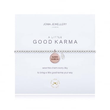 A Little Good Karma Silver & Rose Gold Bracelet