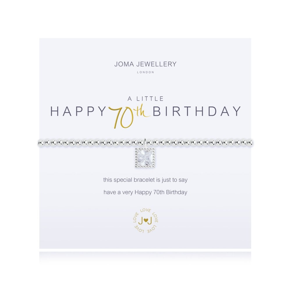 0d6812dc5 JOMA JEWELLERY A Little Happy 70th Birthday Silver Bracelet