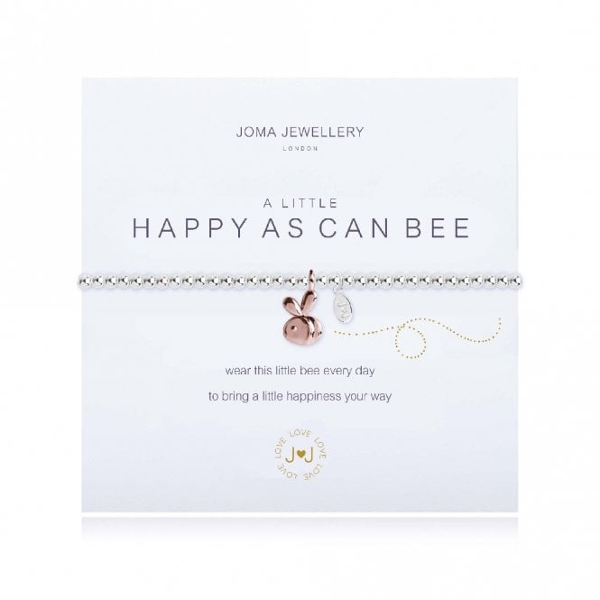 Joma Jewellery A Little Happy As Can Bee Silver and Rose Gold Bracelet