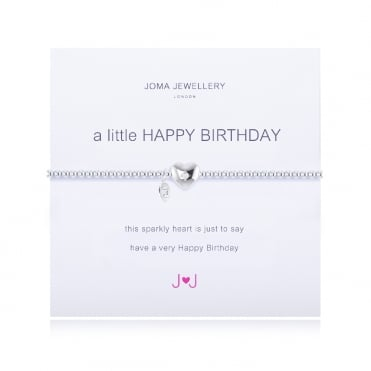 A Little Happy Birthday Silver Bracelet