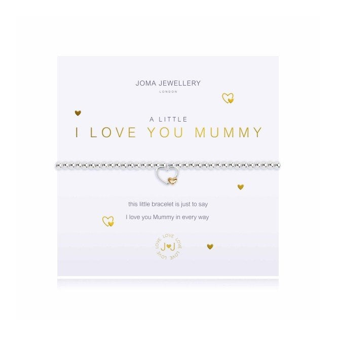 Joma Jewellery A Little I Love You Mummy Gold and Silver Bracelet