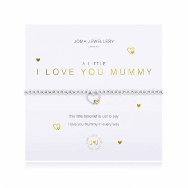 A Little I Love You Mummy Gold and Silver Bracelet
