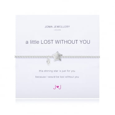 A Little Lost Without You Silver Pave Bracelet