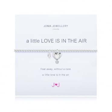A Little Love Is In The Air Silver Bracelet