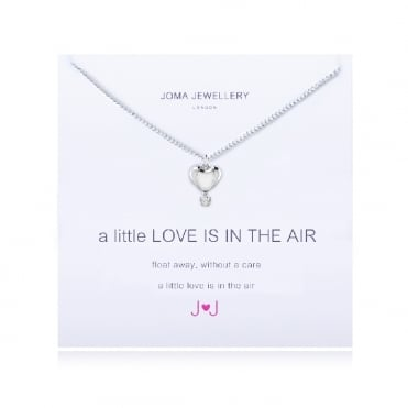 A Little Love Is In The Air Silver Necklace