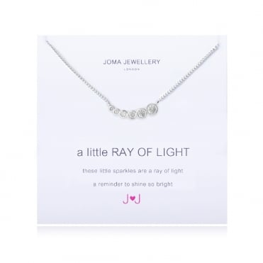 A Little Ray Of Light Silver Pave Necklace