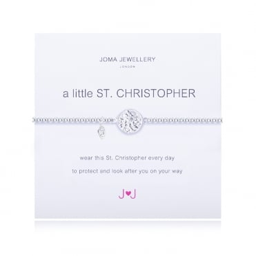 A Little St Christopher Silver Bracelet