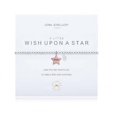 A Little Wish Upon A Star Silver & Rose Gold Bracelet