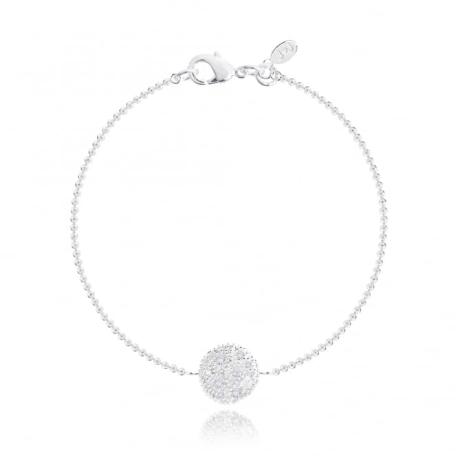 Joma Jewellery Dixie Disc Silver Necklace