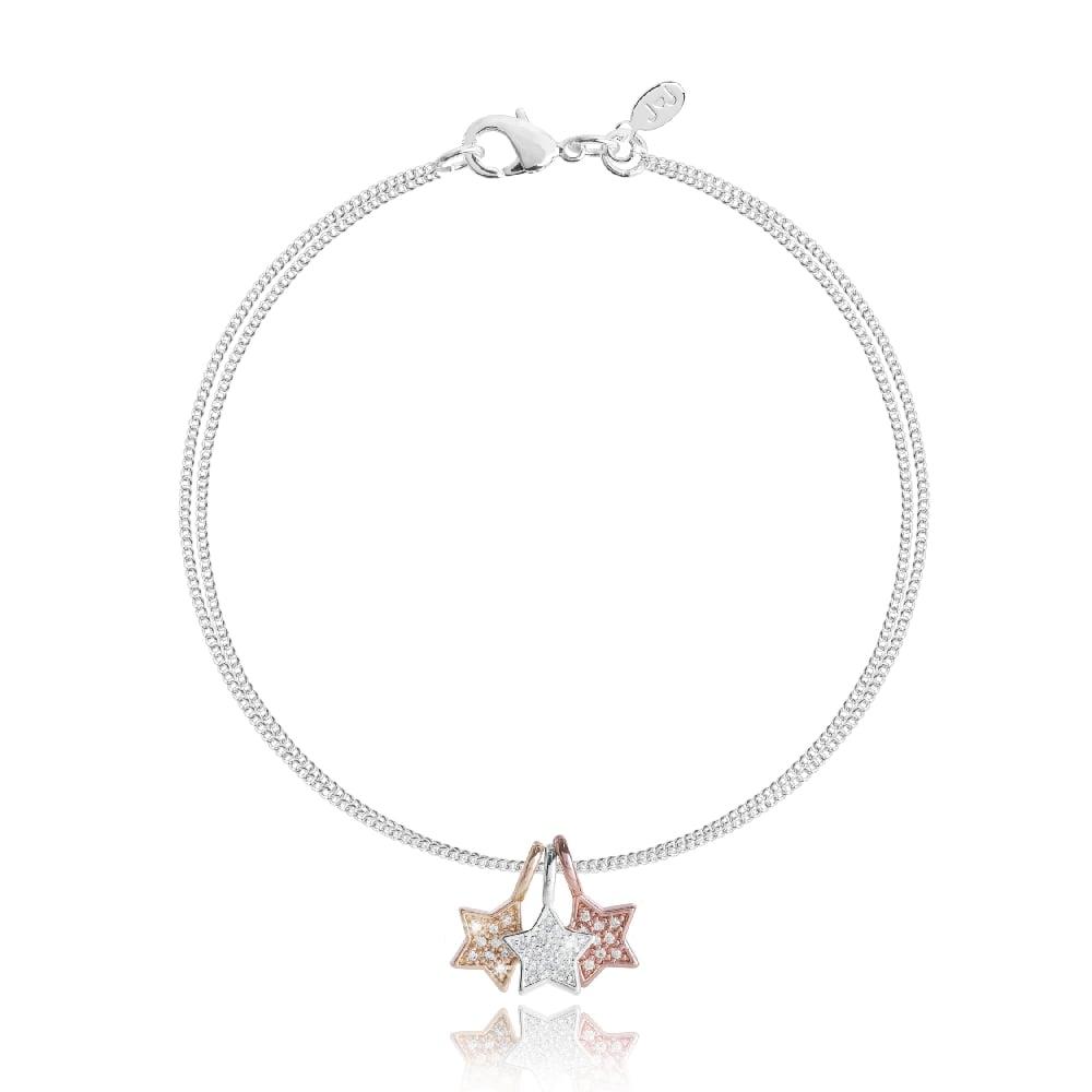 joma Jewellery Anya Silver Star Bracelet GnSgVa1C