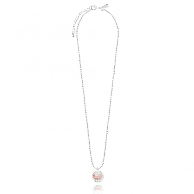 Joma Jewellery Marvellous Mum Klio Coin Silver & Rose Gold Necklace