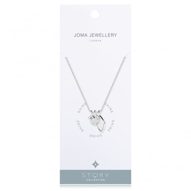 Joma Jewellery Story Shine Silver Necklace
