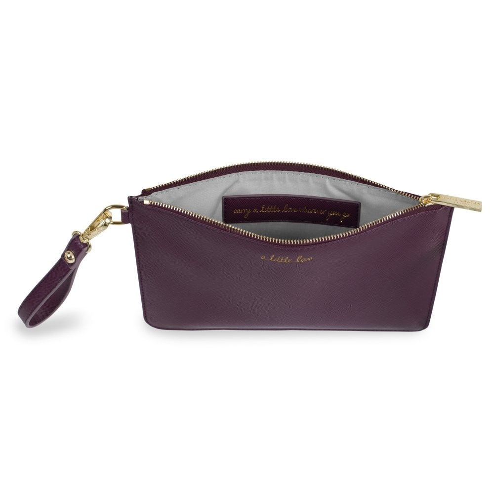 9ae4fae8ae2 ... Secret Message Perfect Pouch Clutch Bag. Tap image to zoom. A Little  Love (Carry A Little Love With You Wherever You Go) Mulberry Purple