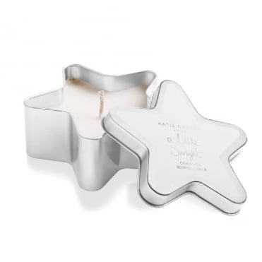 A Little Starlight Citrus Noir Silver Star Tin Candle