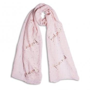 8202c9e38da Bridesmaid Nude and Blush Pink Sentiment Scarf. Katie Loxton ...