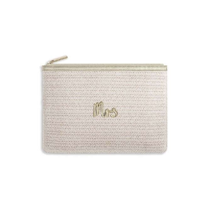 Katie Loxton Coco Clutch Bag Mrs Metalic Gold