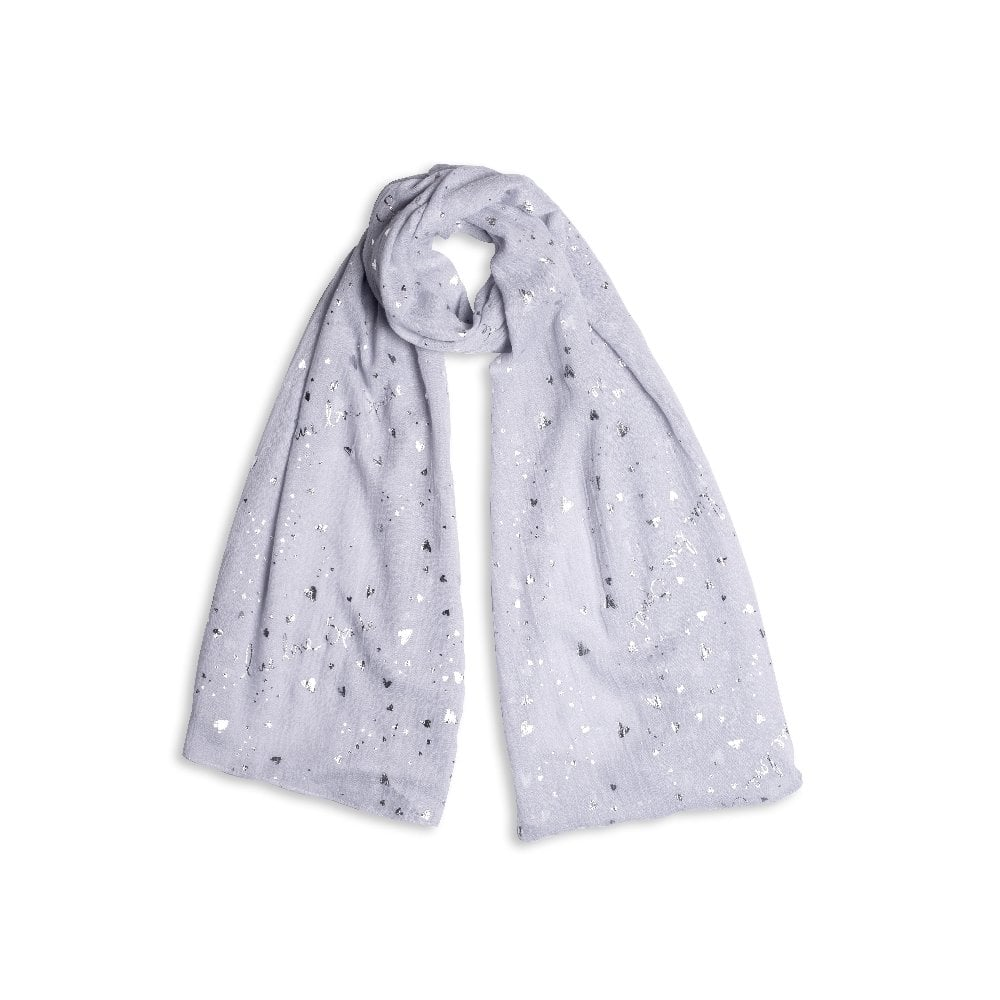 Katie Loxton Scarf /'Heart of Gold/' pale grey