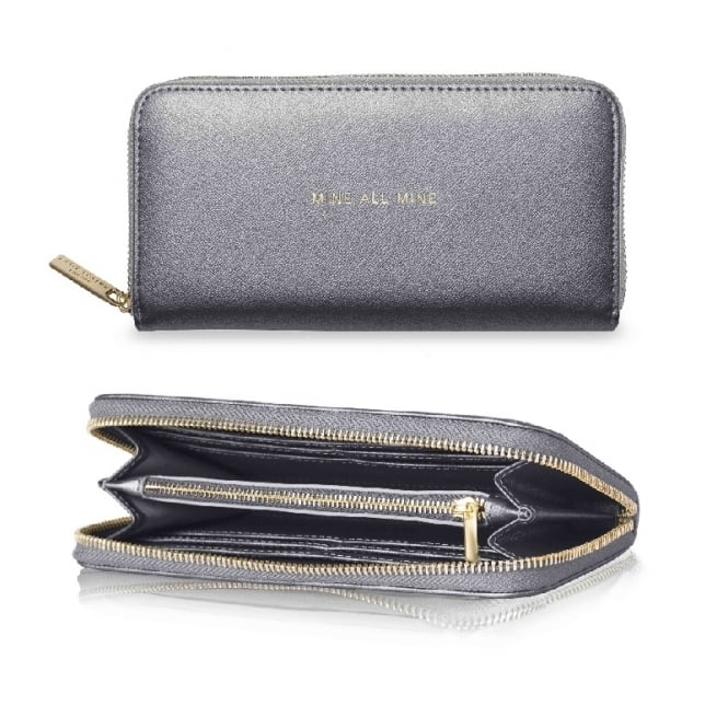 Katie Loxton Mine All Mine Metallic Charcoal Pretty Purse