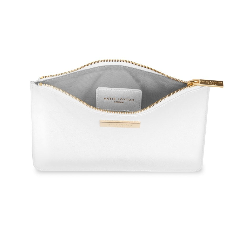 Gift Bag Katie Loxton IN THE BAG Perfect Pouch Clutch Bag Oyster Grey