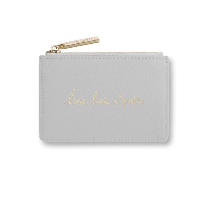 Katie Loxton Perfect Card Holder Live Love Sparkle Grey