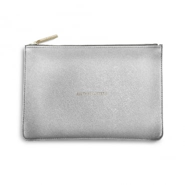 Perfect Pouch Clutch Bag All That Glitters Metallic Silver