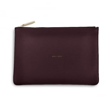 Perfect Pouch Clutch Bag Arm Candy Burgundy