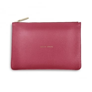 Perfect Pouch Clutch Bag Bag Of Tricks Deep Pink