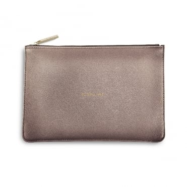 Perfect Pouch Clutch Bag Be Brilliant Rose Pewter