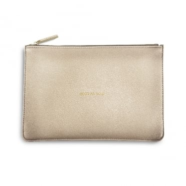 Perfect Pouch Clutch Bag Good As Gold Metallic Gold