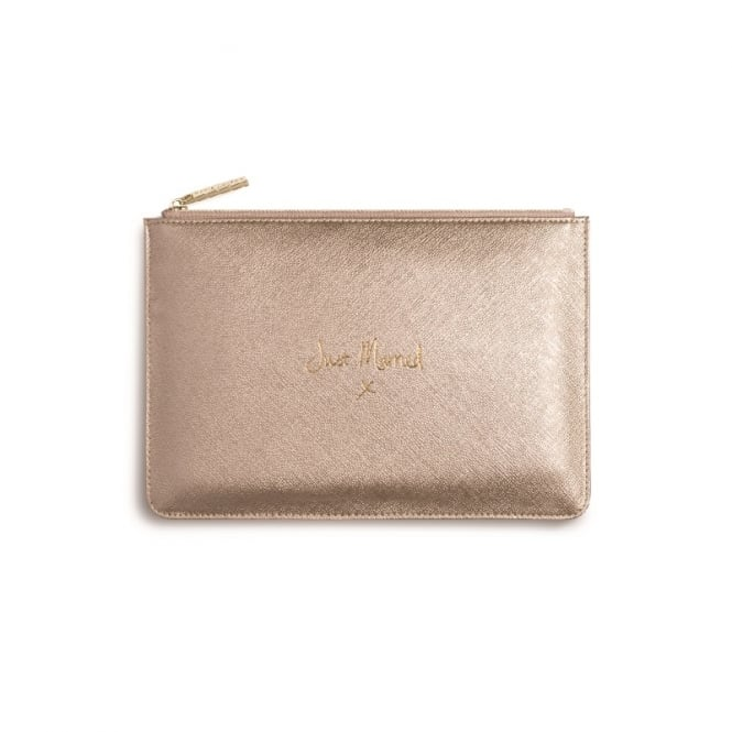 Katie Loxton Perfect Pouch Clutch Bag Just Married Metallic Gold