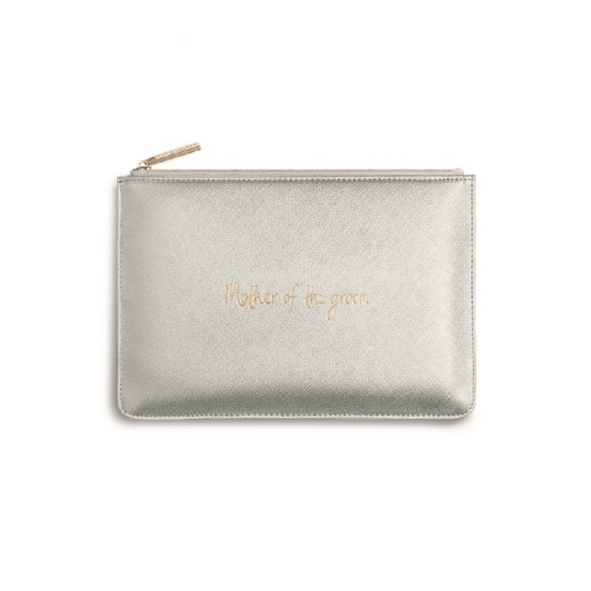 Katie Loxton Perfect Pouch Clutch Bag Mother Of The Groom Metallic Silver