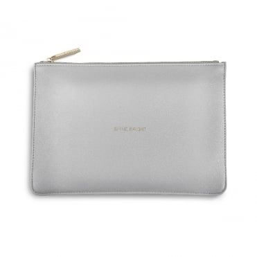 Perfect Pouch Clutch Bag Shine Bright Pale Grey
