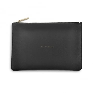 Perfect Pouch Clutch Bag Talk To The Bag Charcoal