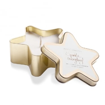 Sparkle Everyday Sweet Almond & Cinnamon Gold Star Tin Candle