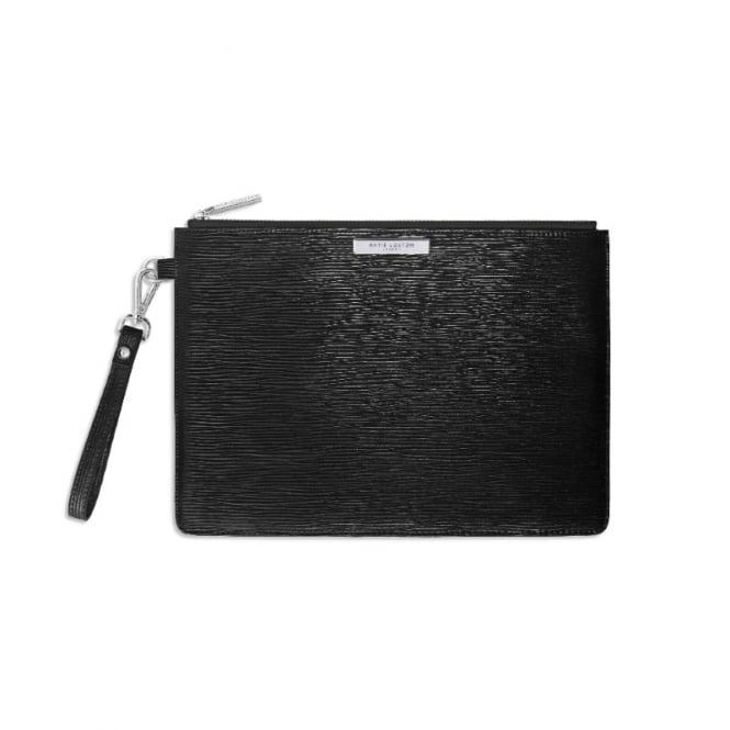 Katie Loxton Zara Metallic Black Clutch Bag