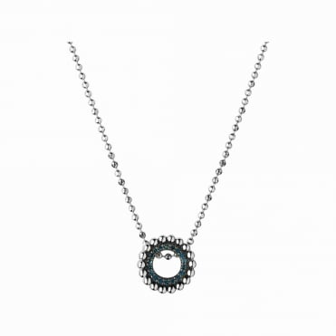 Effervescence Silver & Blue Diamond Mini Necklace