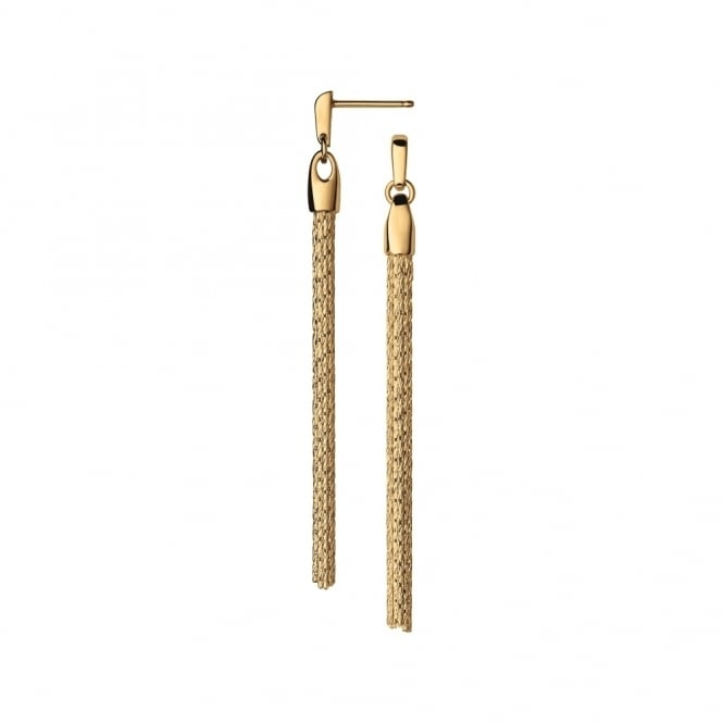 Links of London Essentials Silk 18ct Gold Drop Earrings