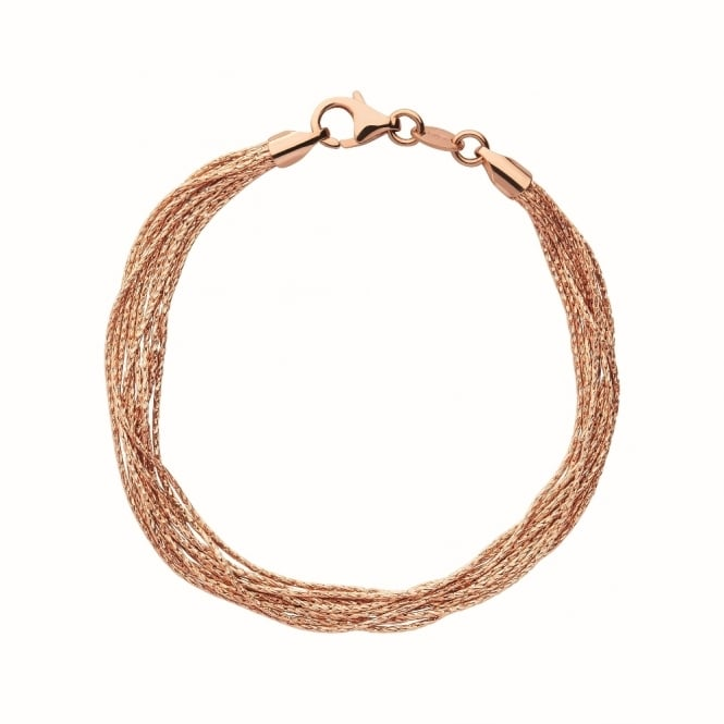 Links of London Essentials Silk Rose Gold 10 Row Bracelet