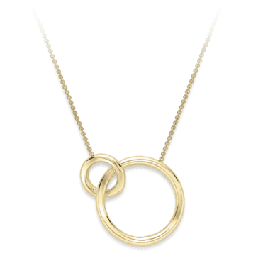 9 Carat Yellow Gold Interlocking Hoops Necklace