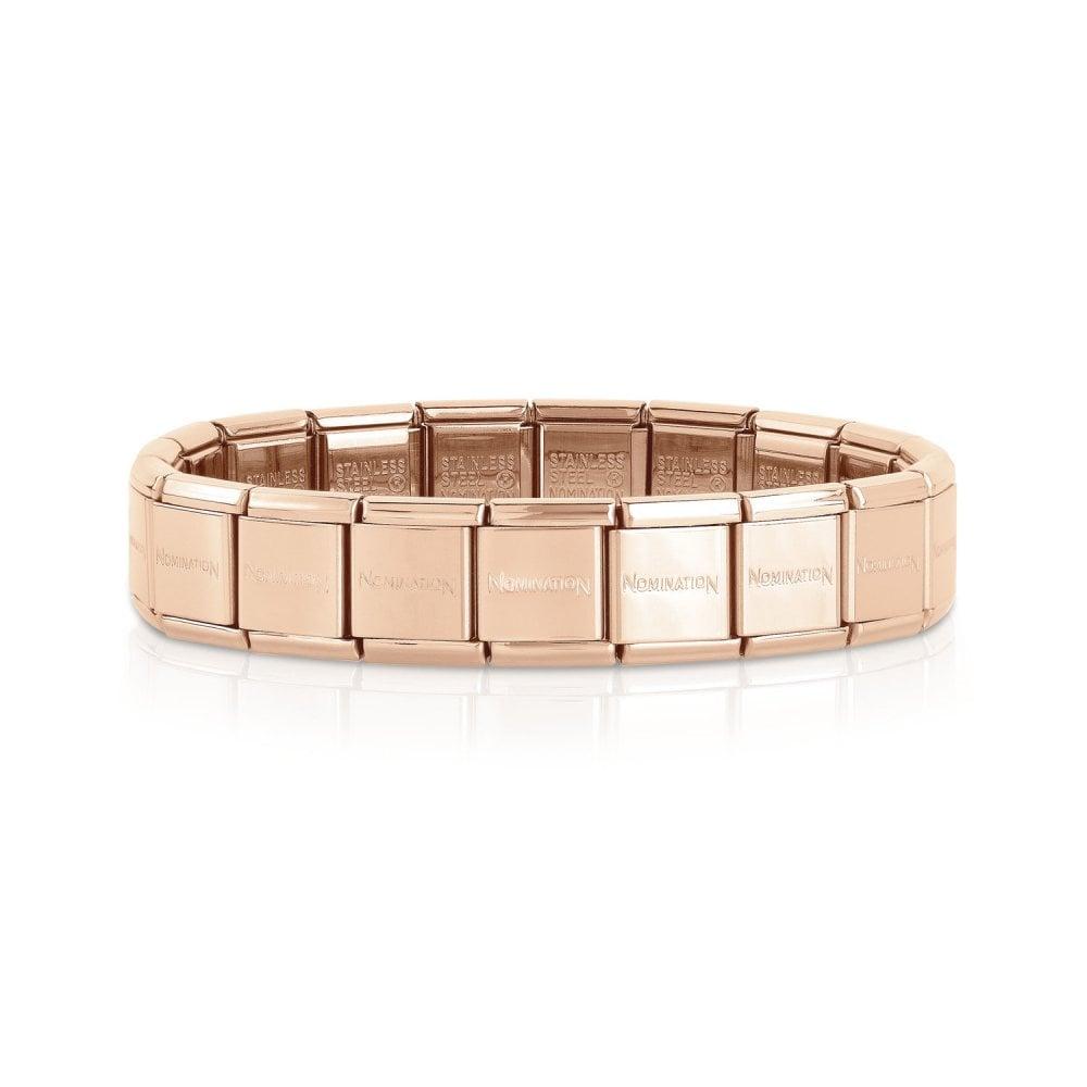 Nomination Bracelet Charms: NOMINATION BIG Rose Gold Starter Base Bracelet