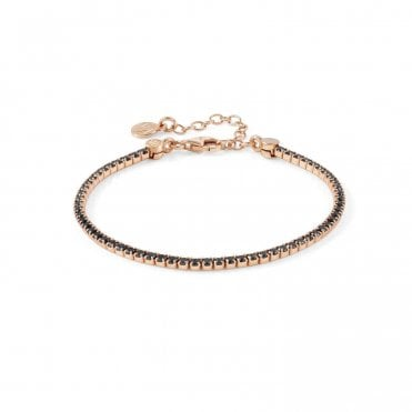 Chic & Charm Tennis Bracelet In Rose Gold with CZ